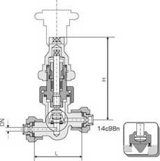 Клапан 14с98п